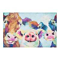 Barnyard Selfie Canvas Art Print