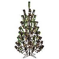 7 ft. Pre-Lit Wine Bottle Holder Christmas Tree