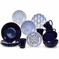 Blue and White 16-pc. Dinnerware Set
