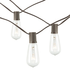 Brown Electric Tubular Bulb String Lights