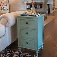 Olive 3-Drawer Chest Side Table