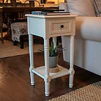 Rose Accent Table with 1-Drawer