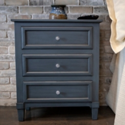 Antique Navy 3-Drawer Kids Chest