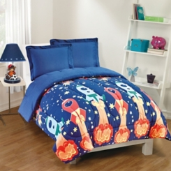 Blast Off Kids Twin 2 Pc. Comforter Set