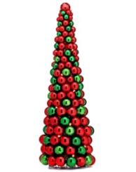 Red and Green LED Ornament Christmas Tree