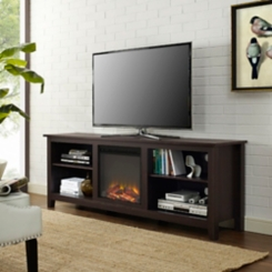 Espresso TV Media Console with Electric Fireplace
