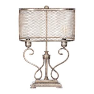 Gold Metallic Double Bulb Scroll Table Lamp Kirklands