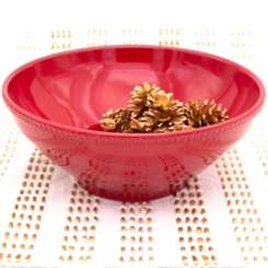 Red Abbey Serving Bowl
