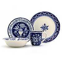 Blue Garden 16-pc. Dinnerware Set
