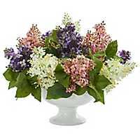 Lilac Arrangement in White Vase