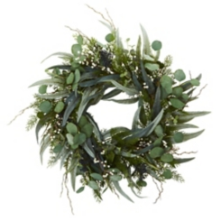 Natural Green Eucalyptus Wreath