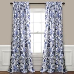 Blue Cynthia Darkening Curtain Panel Set, 95 in.