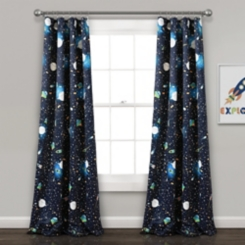 Navy Universe Darkening Curtain Panel Set, 84 in.