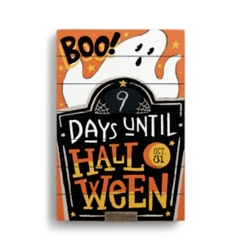 Countdown to Halloween Plaque with Easel Back