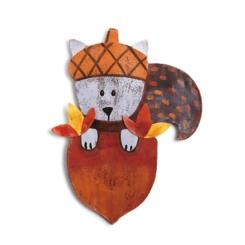 Squirrel in Acorn Harvest Door Hanger