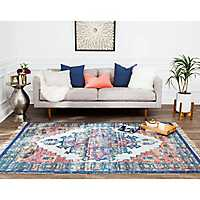 Multicolor Distressed Kobey Area Rug, 5x8