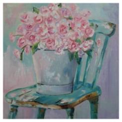 Sitting Pretty Canvas Art Print