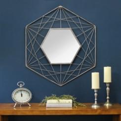 Gold Ana Crisscross Mirror, 27.95x32 in.