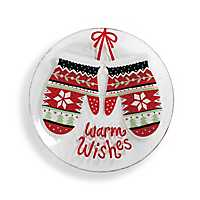 Mittens Warm Wishes Christmas Plate