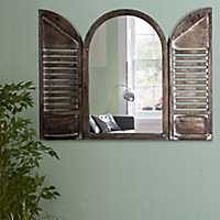 Cathedral Arched Window Shutter Mirror