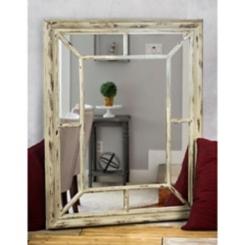 Shabby Chic Distressed Windowpane Wall Mirror