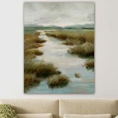 Silent Marsh Giclee Canvas Art Print