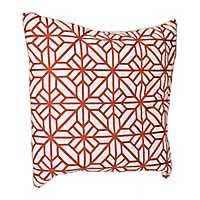 Rust Embroidered Lardini Pillow