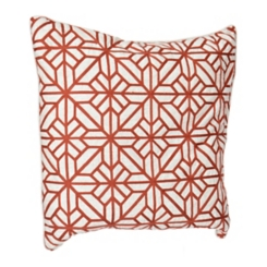 Rust Embroidered Lardini Pillow
