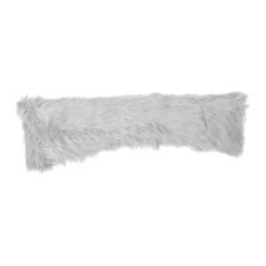 Gray Faux Mongolian Fur Accent Pillow