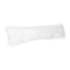White Faux Mongolian Fur Accent Pillow