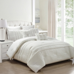 White Chartreux 8-pc. Queen Comforter Set