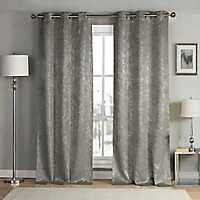 Gray Maddie Blackout Curtain Panel Set, 84 in.
