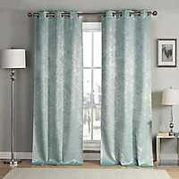 Robin's Egg Blue Maddie Curtain Panel Set, 84 in.