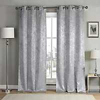 Silver Maddie Blackout Curtain Panel Set, 84 in.