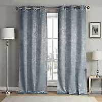 Slate Blue Maddie Curtain Panel Set, 84 in.