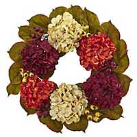 Hydrangea and Berry Floral Wreath