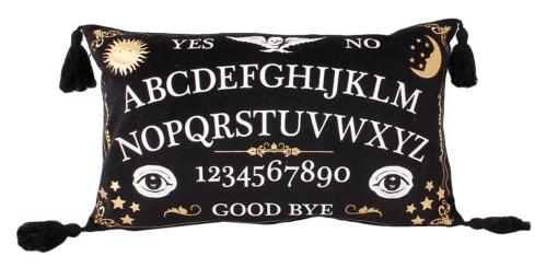 Octavia Ouija Faux Velvet Tassel Accent Pillow