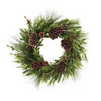 Pine and Assorted Pine Cone Christmas Wreath