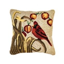 Fall Cardinal Outdoor Pillow