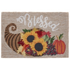 Blessed Bar Harbor Outdoor Fall Accent Rug, 3x2