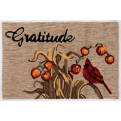 Fall Gratitude Bar Harbor Outdoor Accent Rug, 3x2