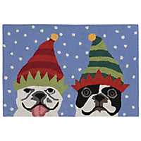 Snow Pups Outdoor Accent Rug