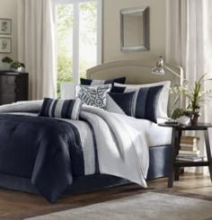 Navy Amador 7-pc. Queen Comforter Set