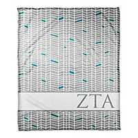 Zeta Tau Alpha Chevron Fleece Throw