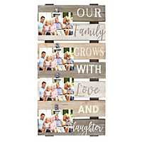 Our Family 4-Opening Plank Collage Frame