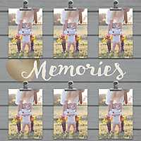 Memories 6-Opening Shiplap Collage Frame