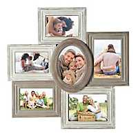 Multi-Shaped 6-Opening Collage Frame
