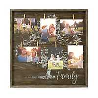 Family Tree Twine Collage Frame with Clips