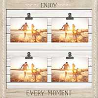 Enjoy Every Moment Shutter Collage Frame