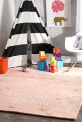 Pink Twinkle Twinkle Little Star Area Rug, 5x7